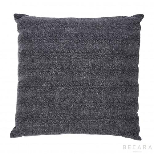 Big black coal cushion