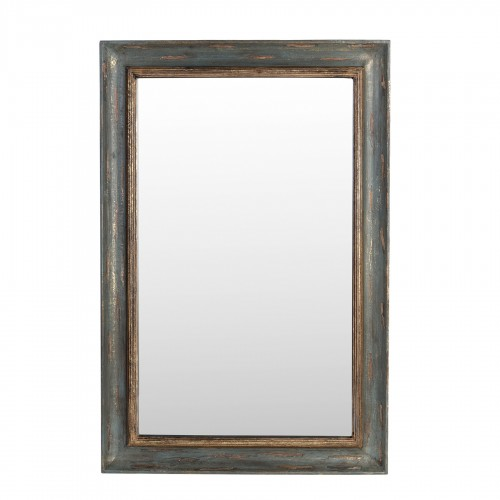 61x92cm grey and golden wooden mirror
