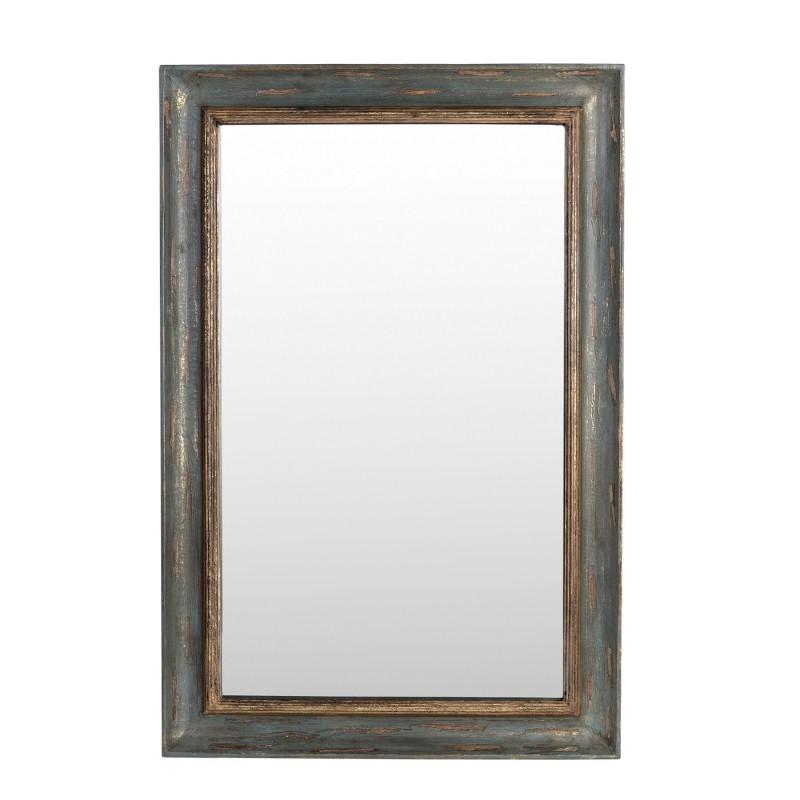 Espejo de madera gris y dorado 61x92cm - BECARA