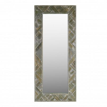 100x230cm grey parquet mirror