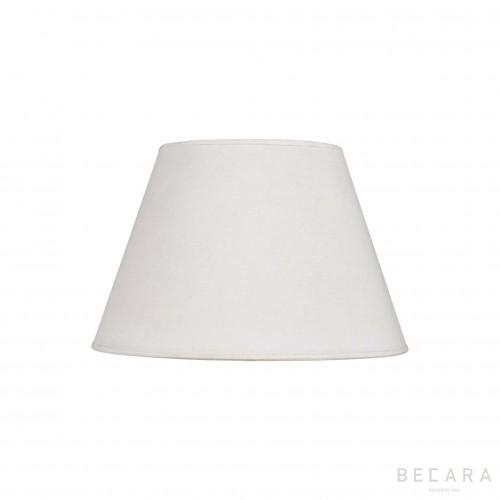Pantalla cónica lino blanco saco 40cm - BECARA
