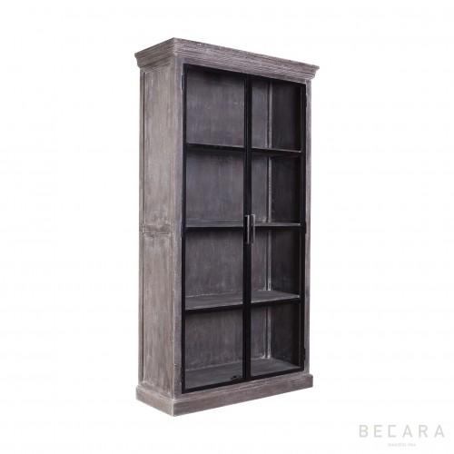 Vitrina de hierro y madera - BECARA
