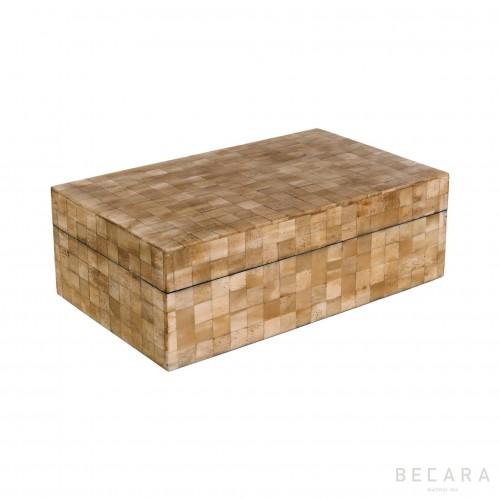 Caja hueso rectangular grande - BECARA