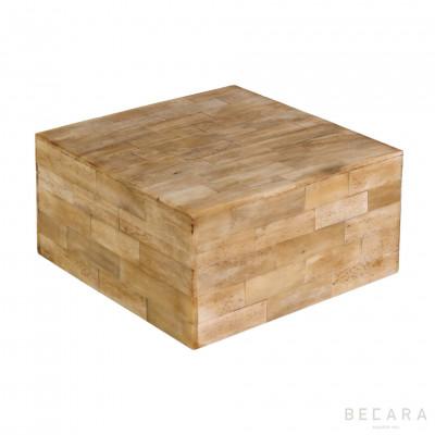 Caja hueso cuadrada grande