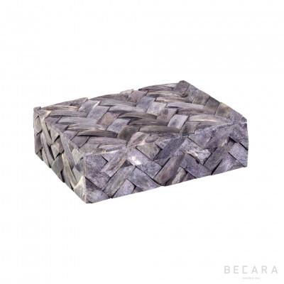 Caja trenzado gris