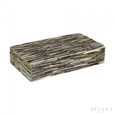 Striped gray box