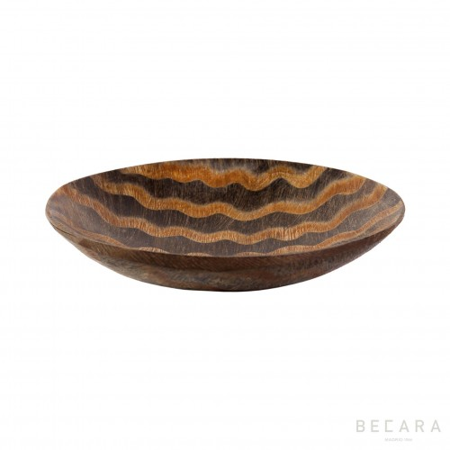 Big zig-zag horn decorative plate