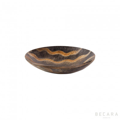 Small zig-zag horn decorative plate