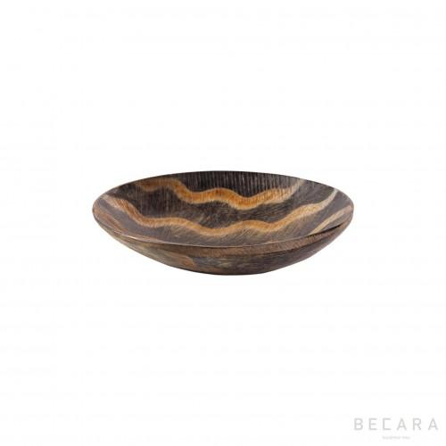 Small zig-zag horn decorative plate