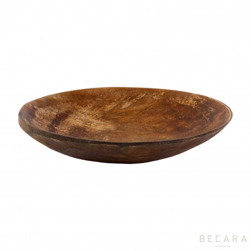 Big matte horn decorative plate
