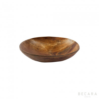 Small matte horn decorative plate