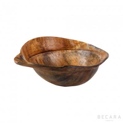 Horn bowl with irregular...