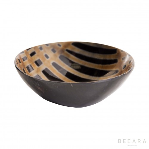 Burnished large horn bowl