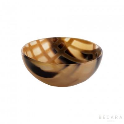 Burnished medium horn bowl