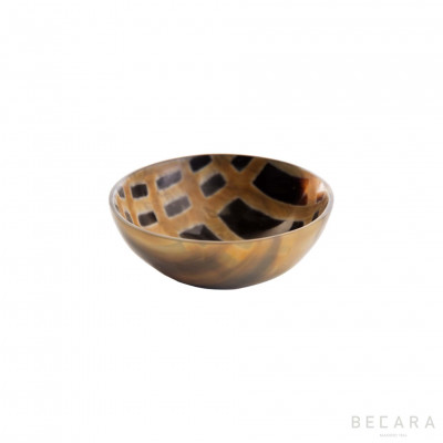 Burnished small horn bowl