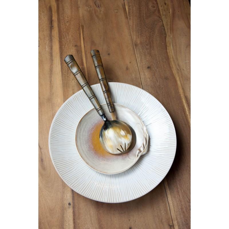 Round cream Spin platter