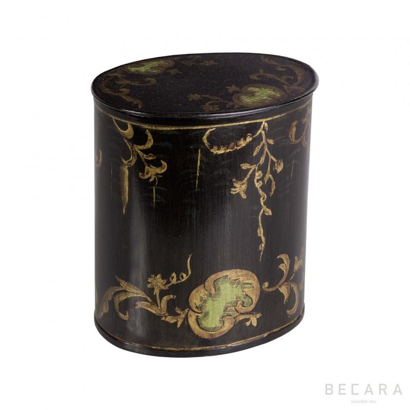 Caja ovalada motivos orgánicos - BECARA