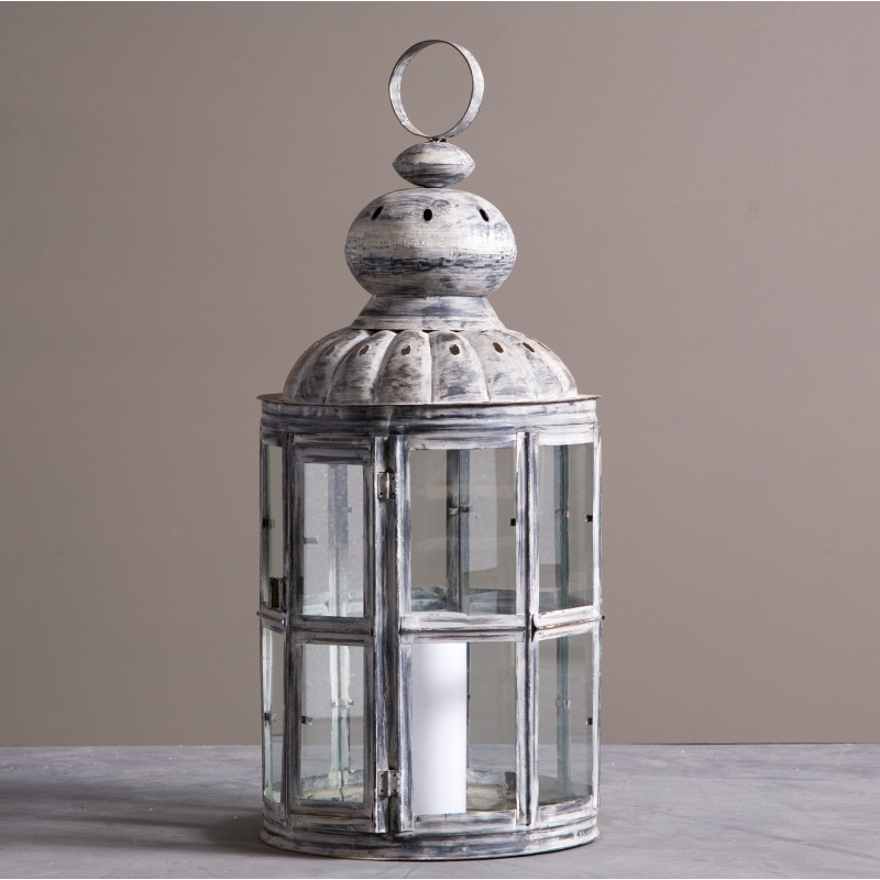 GREY LANTERN FOR CANDLE