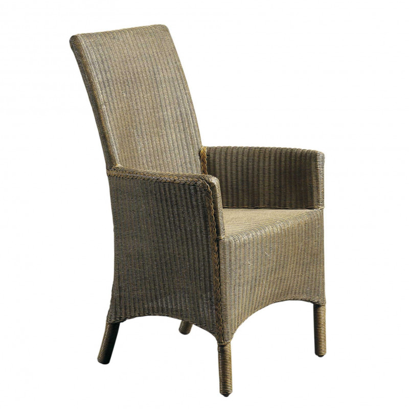Ecru Lloyd Loom armchair