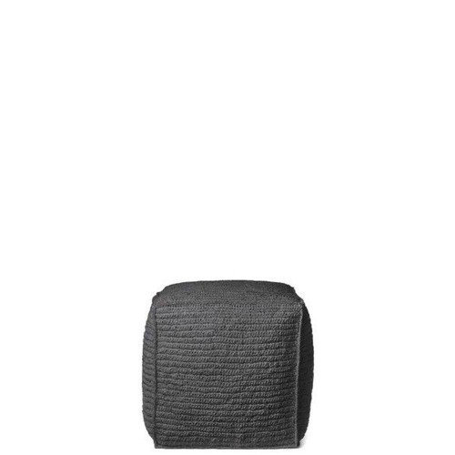 Black Cantone pouf