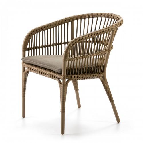 Natural Tripoli armchair