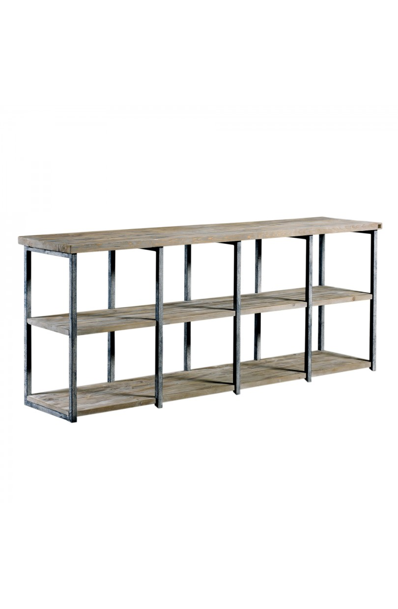 Estanter a madera y hierro librer as y estanter as en becara - Estanterias de hierro ...