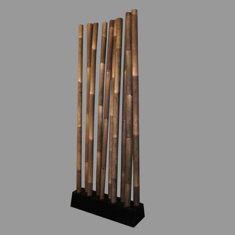 Thick bamboo screen room divider