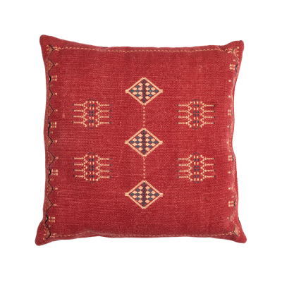 Red square Bali cushion