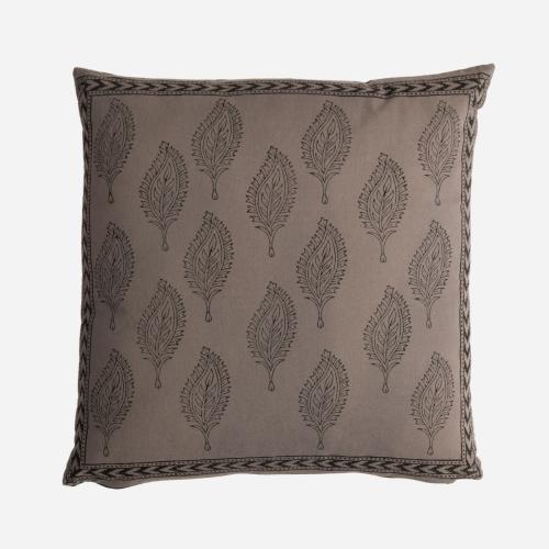 Gray leaves Tezu cushion