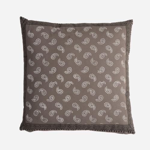 Tezu gray line cushion