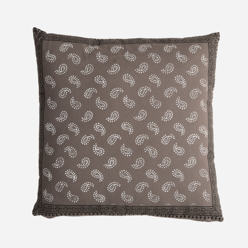 Tezu gray line cushion