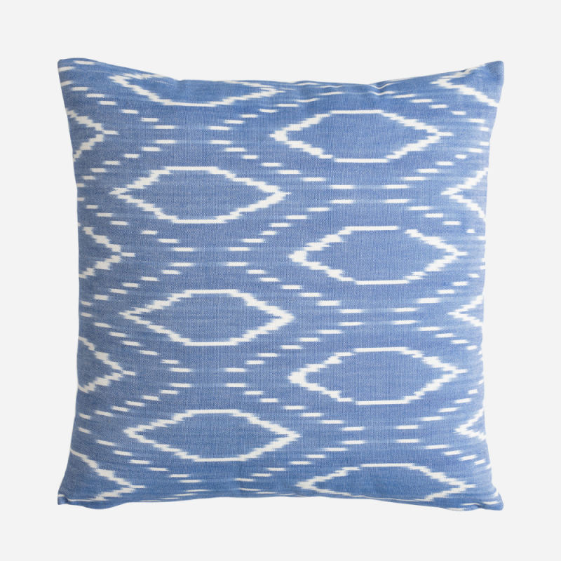 Mahur blue rhombuses cushion