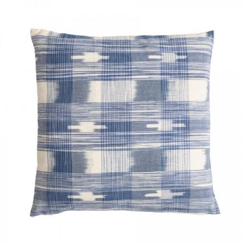 Cojín Mahur cuadrados azules - BECARA