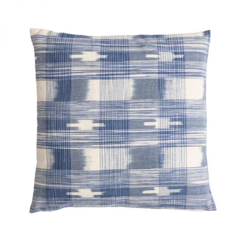 Mahur blue squares cushion