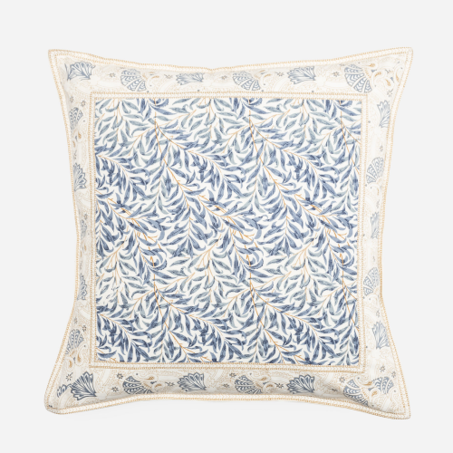 Square blue branches cushion