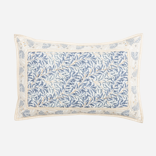 Rectangular blue branches cushion