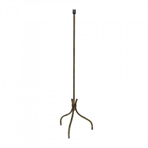 Iron bamboo floor lamp