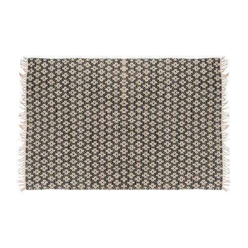 Geometric small black carpet