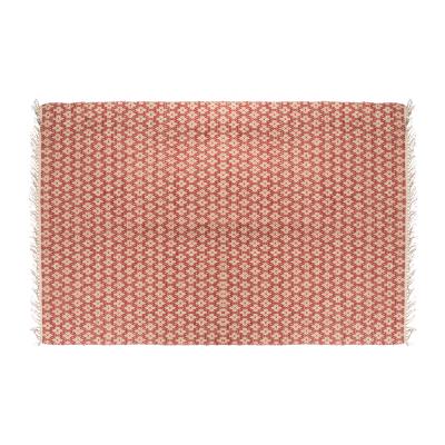Alfombra grande geométrica roja - BECARA