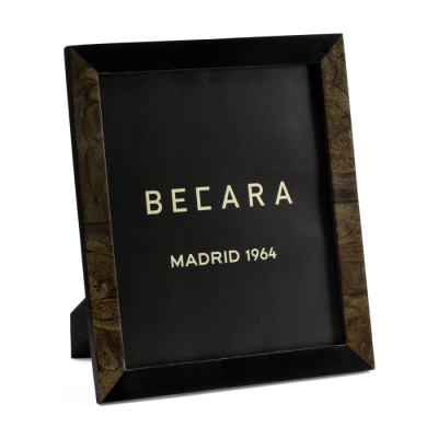 Marco de fotos negro/marrón - BECARA